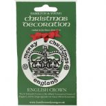 Silver Plated Christmas Decoration English Crown 0955